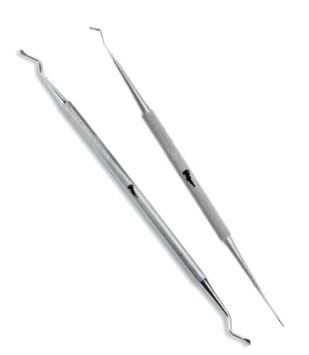 2 pc Set - Ingrown Toenail Lifter and File 21, Curette Nail Cleaner 23